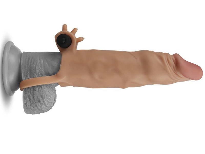 Bao cao su đôn dên Lovetoy X- tender có quai đeo rung gốc 6